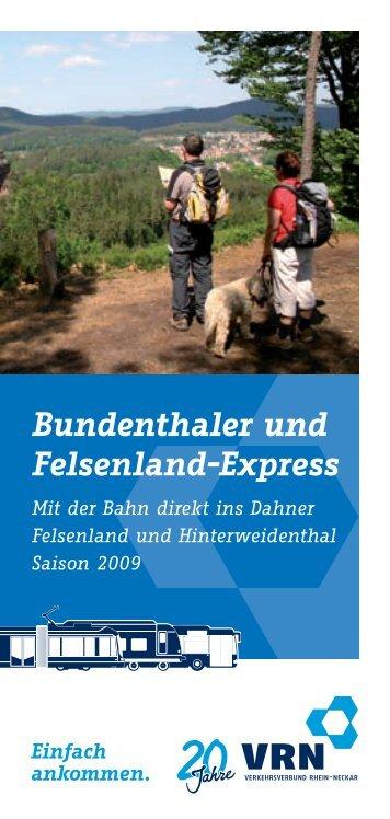 Bundenthaler und Felsenland-Express - Rheinland-Pfalz-Takt
