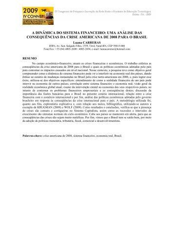 a dinâmica do sistema financeiro - Connepi2009.ifpa.edu.br