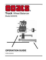 Truck Wheel Balancer OPERATION GUIDE - NY Tech Supply