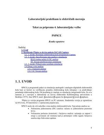 Uputstvo za PSPICE