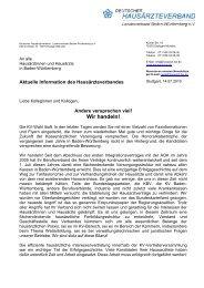 Wir handeln! - Deutscher Hausärzteverband Landesverband Baden ...