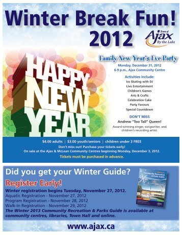 Holiday Flyer 2012.indd - Town of Ajax