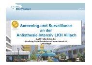 Screening und Surveillance - 8. Tag der Hygiene
