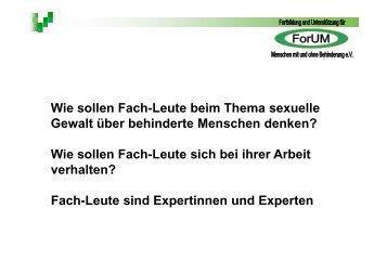 Behinderte Menschen - Frauennotruf Frankfurt