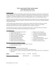 1 Polk County Sheriff's Office Job Description 2710 Senior Research ...