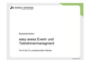 easy axess Event- und Teilnehmermanagment - IMEX America