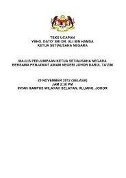 sri dr. ali bin hamsa ketua setiausaha negara majlis perjumpaan ...
