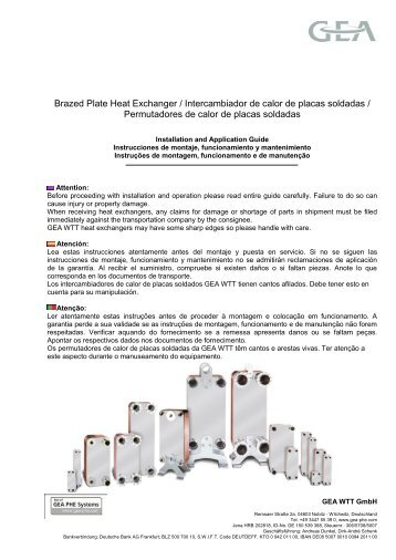 Funke heat exchanger manual