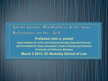 Racial Justice & Racialized Structures - Berkeley Law - University of ...