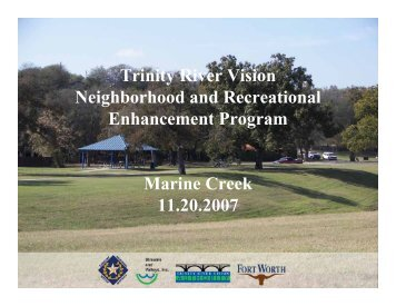 Marine Creek - Trinity River Vision