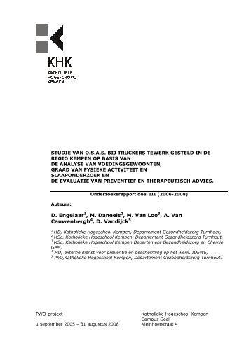 Onderzoeksrapport Deel III - Katholieke Hogeschool Kempen