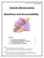 1. Lucky Thirteen Coaching Skills