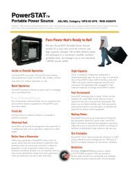 Portable power source - PowerSTAT - Information Station Specialists