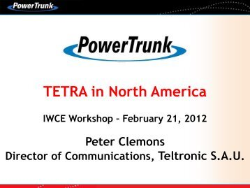 TETRA in North America - Peter Clemons