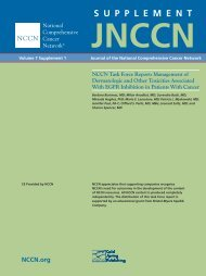 NCCN Task Force Report: Management Of Dermatologic And