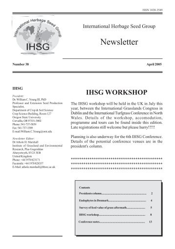 newsletter 38.pmd - International Herbage Seed Group
