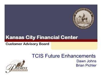 TCIS Future Enhancements - Financial Management Service