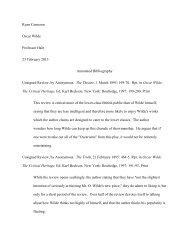 Oscar Wilde, The Critical Heritage