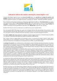 Ambulatorio dedicato alle malattie ematologiche, immunologiche e ...