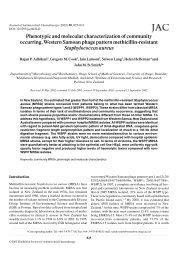 Phenotypic and molecular characterization of community occurring ...
