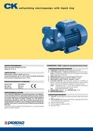 Pedrollo CK Liquid Ring Pumps for Water & Diesel - Fuel Transfer ...