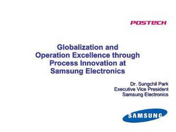 Globalization and Operation Excellence through Process Innovation ...