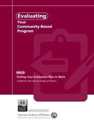 Evaluating Your Community-Based Program Part II - American ...
