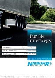 Für Sie unterwegs - TRANSPORTE NIEBUHR  GmbH