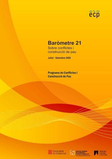 Baròmetre 21 - Escola de Cultura de Pau - Universitat Autònoma de ...
