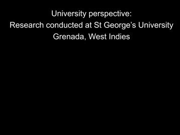 Research conducted at SGU - Caribvet