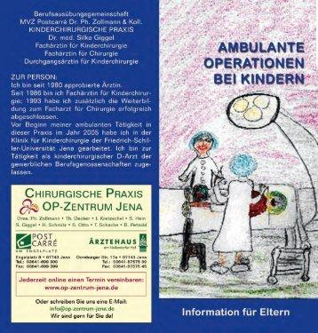 Flyer Kinderchirurgie