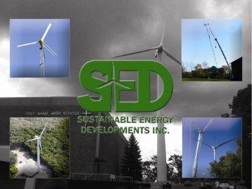 Sustainable Energy Developments