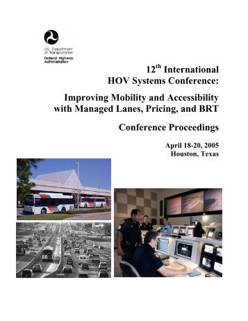 Conference on - FHWA Operations - U.S. Department of ...