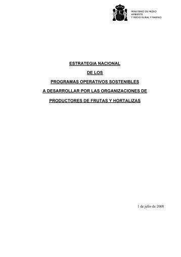 estrategia nacional de los programas operativos sostenibles ... - Coag