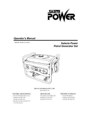 Generator 6.5Hp Selecta Power - Silvan