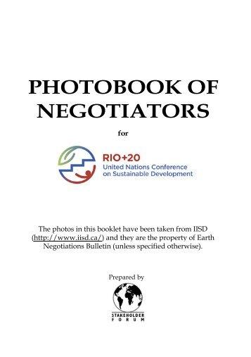 PHOTOBOOK OF NEGOTIATORS - ICLEI Rio +20