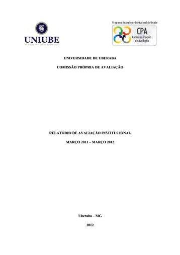 Avaliação Institucional - Março 2011/Março 2012 - Uniube