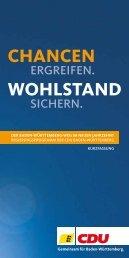 CHANCEN WOHLSTAND - CDU Baden-Württemberg