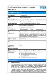 Head of Midwifery Report - The Royal Wolverhampton Hospitals ...