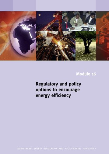 Regulatory and policy options to encourage energy efficiency - unido
