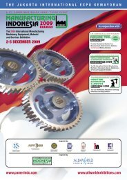 Manufacturing Indonesia 09 Brochure LR.indd - Allworld Exhibitions