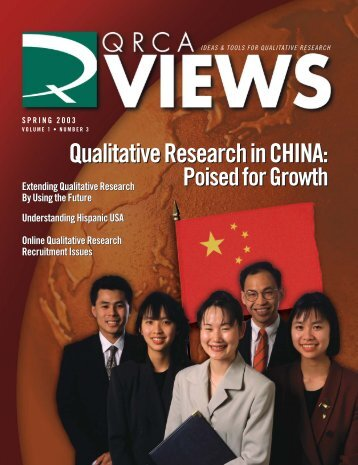 Qualitative Research in CHINA - The Paginator