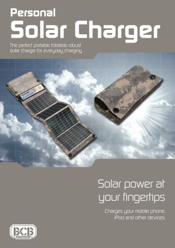 Personal Solar Charger - Military Systems & Technology