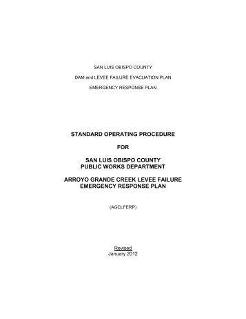 Arroyo Grande Creek Levee Failure Emergency Response Plan