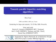 Towards parallel bipartite matching algorithms