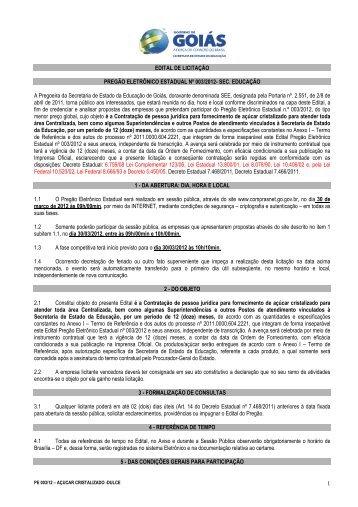 PEE 003-12 - Dulce - Secretaria da Educação do Estado de Goiás