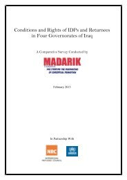 Conditions and Rights of IDPs and Returnees in Four Governorates ...
