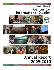 Annual Report 2009-2010 - About - Cornell University