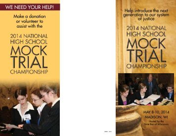 We need your help! - 2014 National High School Mock Trial ...