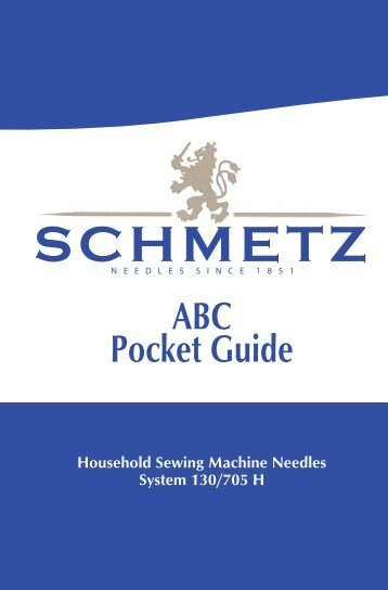 ABC Pocket Guide - The Sewing Machine Doctor